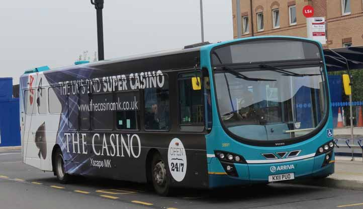 Arriva Shires Volvo B7RLE Wright 3891