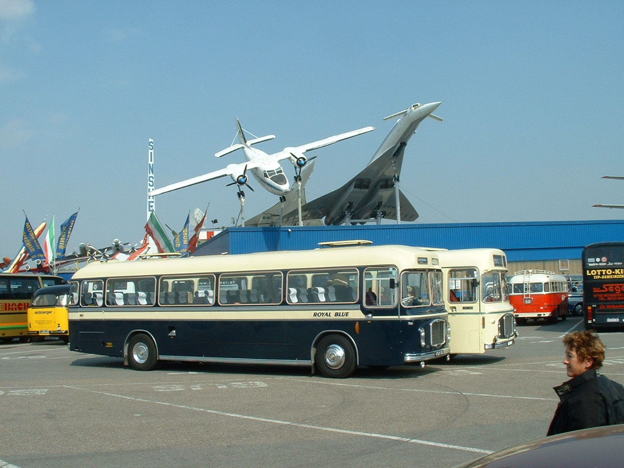 Royal Blue & Crosville RELHs at Sinsheim Technik Museum