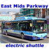 East Midlands Parkway Rail Link Electric Bus Service by Nottingham Community Transport