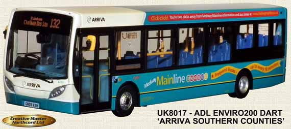Arriva Southern Counties Enviro200