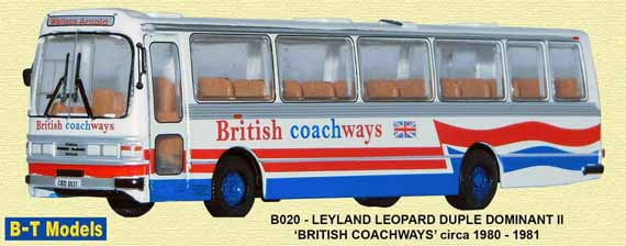British Coachways Leyland Leopard Duple Dominant