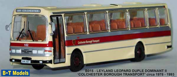 Colchester Borough Transport Leyland Leopard Duple Dominant II