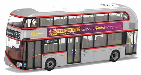 Go-Ahead London General Wrightbus New Routemaster - Year of the Bus silver and red