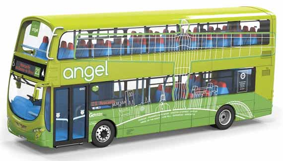 Go-Ahead Northern Volvo B5LH Wright Eclipse Angel of the North