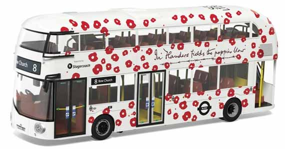 Stagecoach London New Routemaster Poppy Appeal