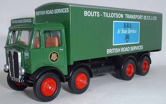 11008 AEC 4 Axle Box Van B.R.S. (BTC Ltd).