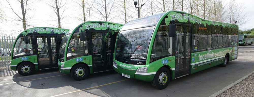 Nottingham Community Transport eletric Optare Solo SR buses