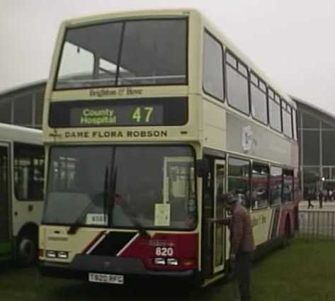 Brighton & Hove Dennis Trident East Lancs Lolyne convertible open top 820