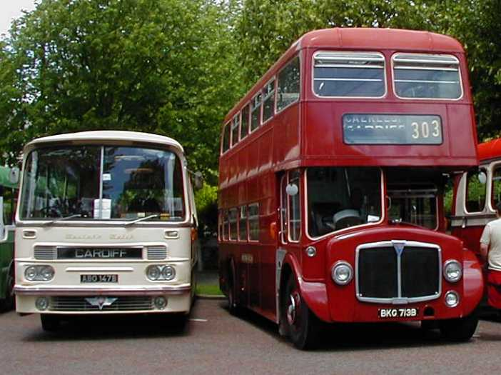 Western Welsh AEC Reliance Harrington 147 & AEC Renown Northern Counties 713