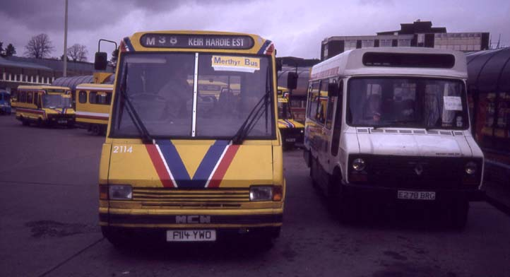 National Welsh MCW MetroRider 2114 and Red & WHite Dodge S56 Alexander 278