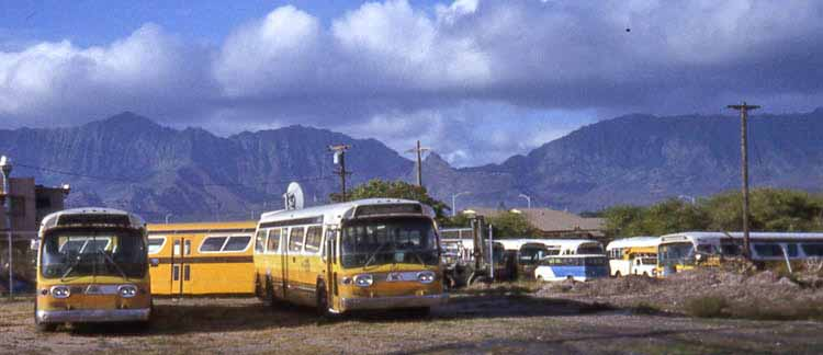 Hawaii depot GMC Fishbowl buses