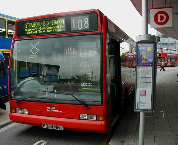 East Thames Buses Optare Excel
