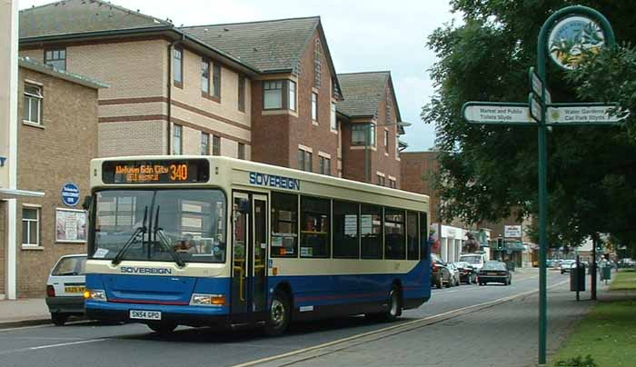 Arriva the Shires Dennis Dart Plaxton ex Sovereign