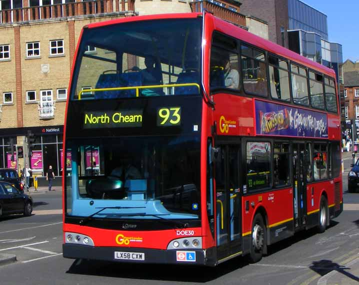 Go-Ahead London Alexander Dennis Enviro400 Optare Esteem DOE30