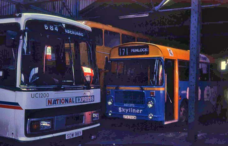 National Welsh Leyland Tiger Plaxton Paramount UC1200 & National Express Bristol LHS6L ECW MD1393 Skyliner