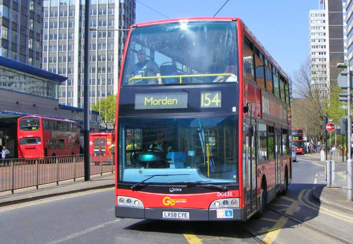 Go-Ahead London Alexander Dennis Enviro400 Optare Esteem DOE35