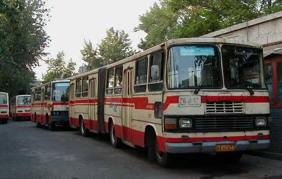 Beijing articulated buses
