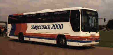 Stagecoach Red & White