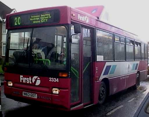 Southampton Gas powered Dennis Dart N163GOT