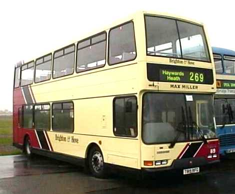Brighton & Hove Dennis Trident East Lancs Lolyne convertible open top 819