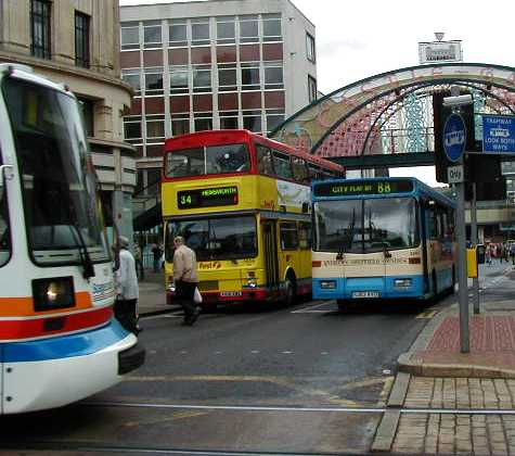 Sheffield Stagecoach SuperTram, First Mainlne MCW Metrobus & Andrews Volvo B6